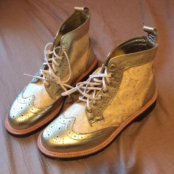 e6c37342e6 Dr. Martens Shoes | Rare Gold Wingtip Doc Martens | Poshmark